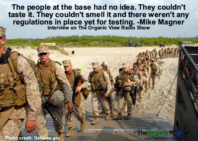 The people at the base had no idea They couldnt taste it They couldnt smell it Mike Magner