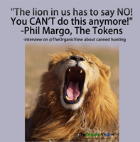 The lion in us has to say NO! You CAN'T do this anymore