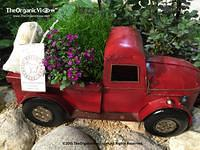 Little Red Truck From The Miniature Fairy Garden at the Chicago Flower and Garden Show