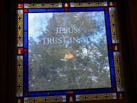Jesus I Trust In You Stained Glass