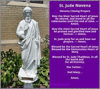 St. Jude Novena Closing Prayers