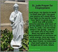 St. Jude Prayer for Employment