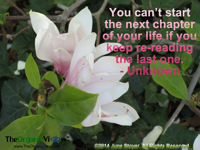 You can't start the next chapter of your life if you keep re-reading the last one.Unknown