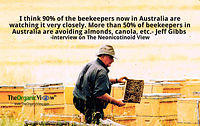 50 Percent of Beekeepers in Australia are avoiding almonds, canola, etc