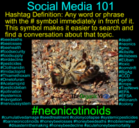 Social media 101-hashtag lesson about neonicotinoids