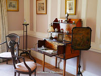 Old-fashioned desk at Old Westbury Gardens
