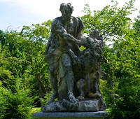Samson Wrestling A Lion At Old Westbury Gardens
