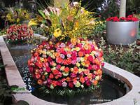 A Tower Of Flowers at the Philadelphia Flower Show by June Stoyer