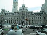 A View Of City Hall in Philadelphia by June Stoyer