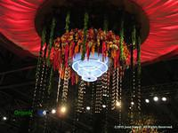 Flower chandelier at the Philadelphia Flower Show by June Stoyer