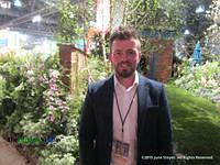 Paul Hervy-Brookes at The Philadelphia Flower Show. Photo by June Stoyer