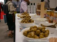 Gourmet Olives Display at Summer Fancy Foods Show in NYC